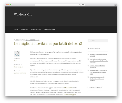Boutique template WordPress free - hairottoleballe.com