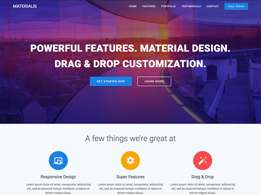 Materialis Child best WordPress video theme