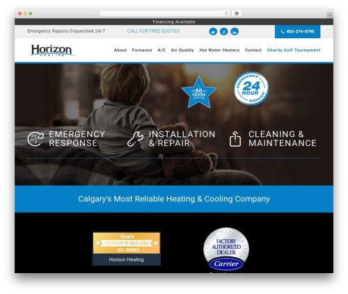 Orao top WordPress theme - horizonheating.ca