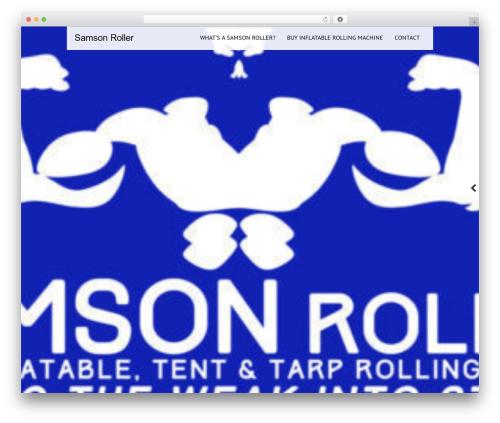 Best WordPress theme Black Label - samsonroller.com