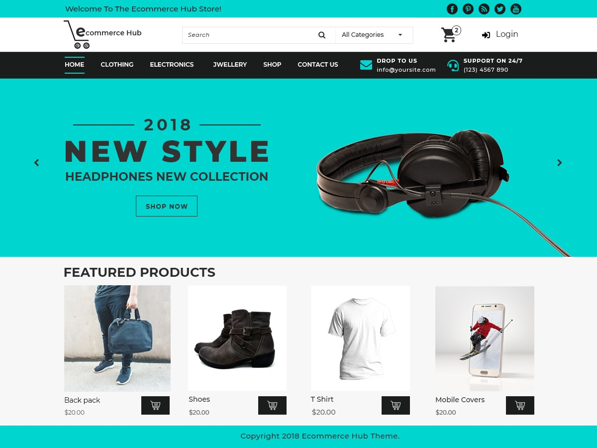 Ecommerce Hub WordPress store theme
