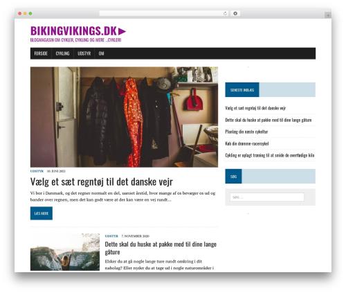 MH Newsdesk lite theme WordPress free - bikingvikings.dk