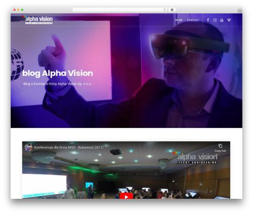 Movedo WordPress blog template - blog.alphavision.pl