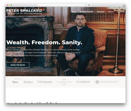PSCOM business WordPress theme - shallard.com