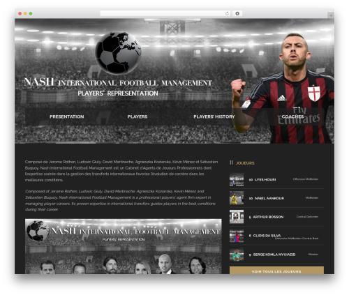 Real Soccer WordPress page template - nashfootball.com