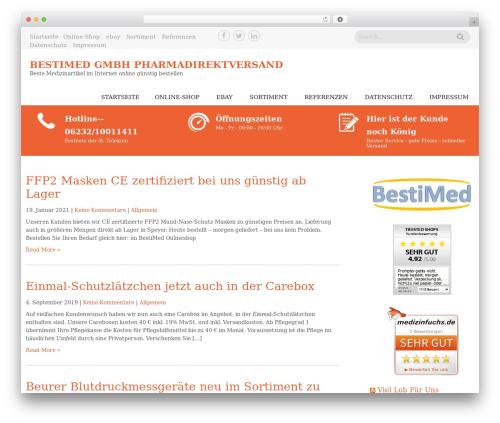 Sanitorium free WordPress theme - best-i-med.de