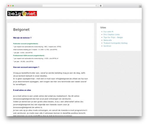 Structr free WordPress theme - belgonet.be