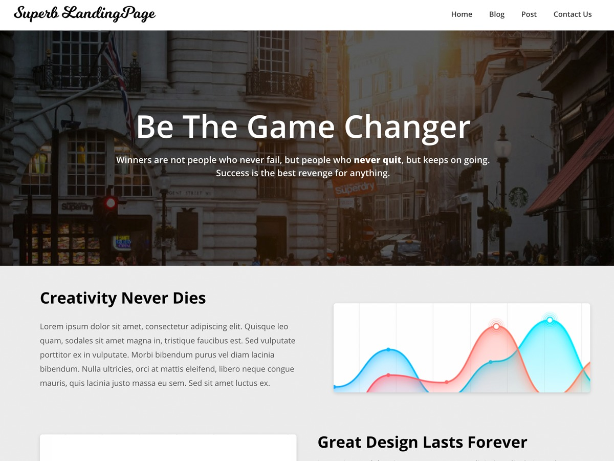 Superb Landingpage best WordPress magazine theme