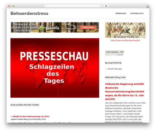 Theme WordPress Poseidon - behoerdenstress.de