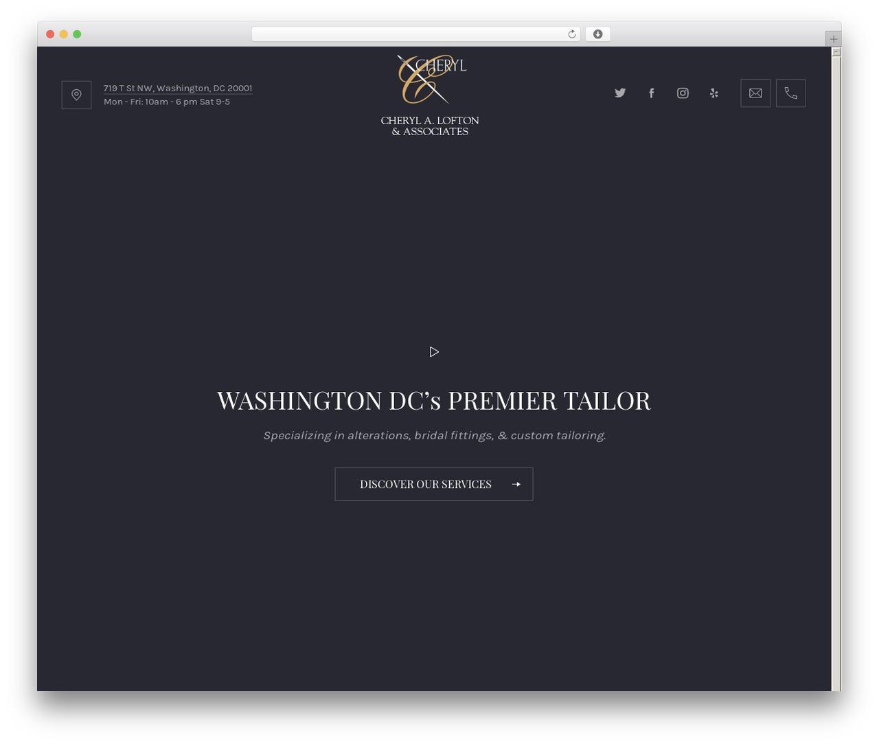 Best WordPress template Ginger - cheryllofton.com