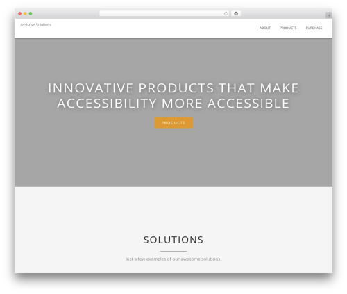 Blended theme WordPress - assistive.solutions