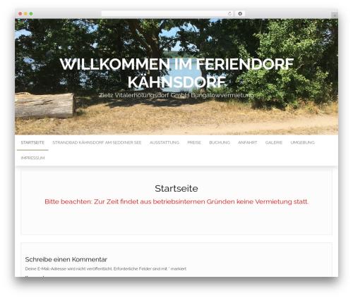 Head Blog WP template - bungalow-seddiner-see.de