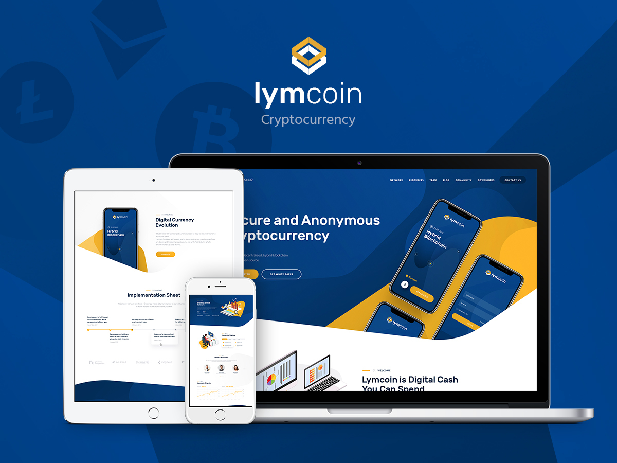 Lymcoin WordPress blog template