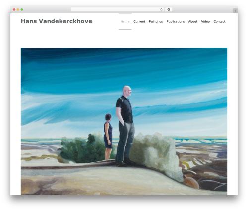 Minim template WordPress - hansvandekerckhove.be