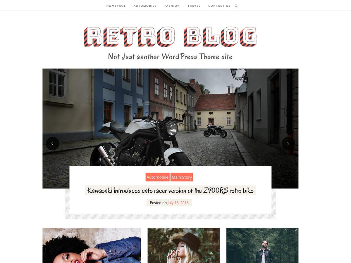Retro Blog WordPress blog template