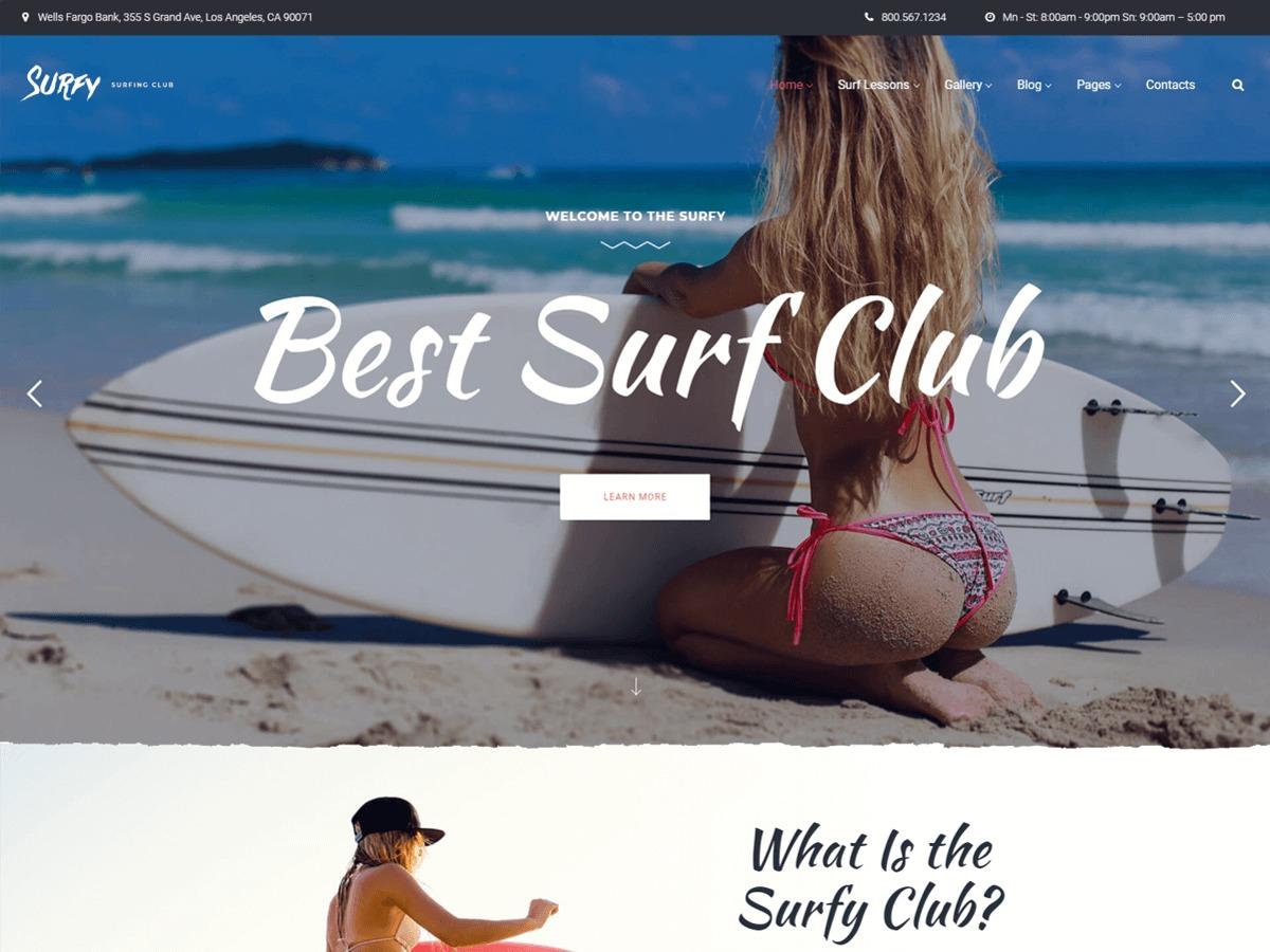 Surfy WordPress theme