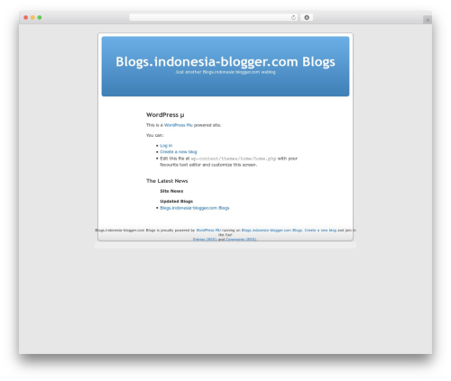 WordPress theme WordPress mu Homepage - blogs.indonesia-blogger.com