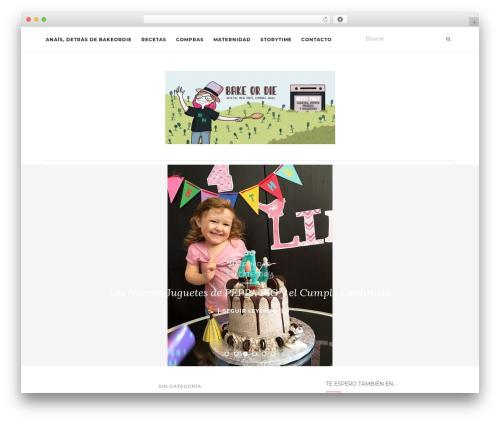 Activello WordPress theme - bakeordie.com