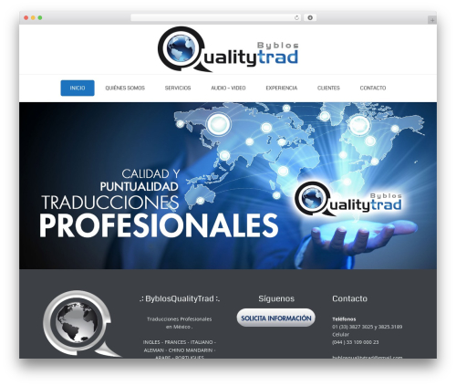 Best WordPress template Jupiter - byblosqualitytrad.com