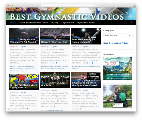 Best WordPress theme Latest - bestgymnasticsvideos.com