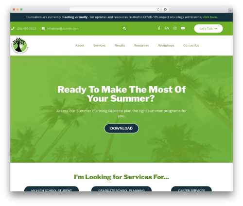 Big Splash Web Design WordPress theme - brightfuturesllc.com
