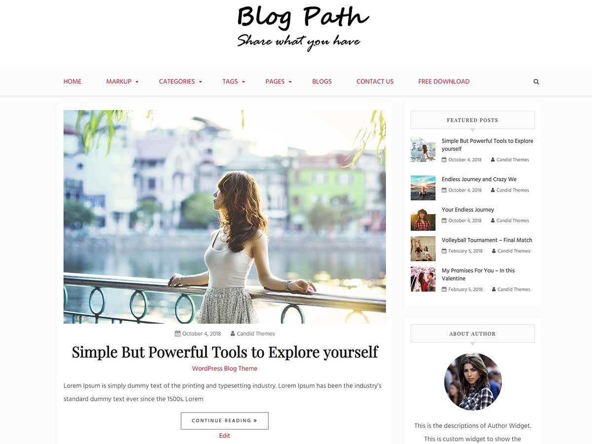 Blog Path WordPress magazine theme