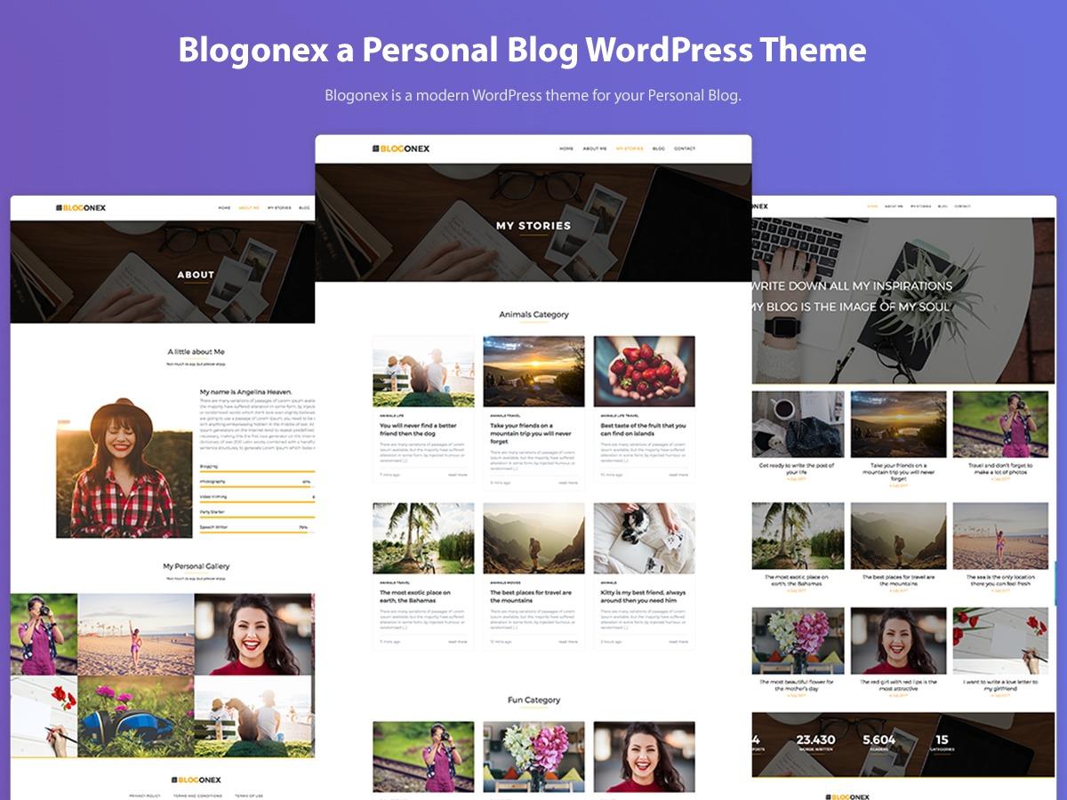 Blogonex WordPress blog theme