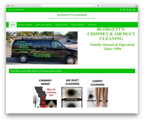 Business Green business WordPress theme - blodgettscleaners.com