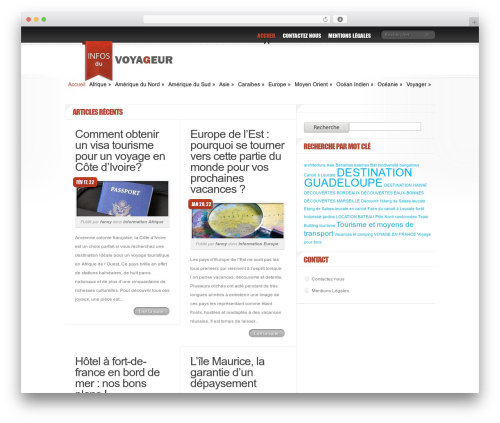 Delicate News theme WordPress - infosduvoyageur.com