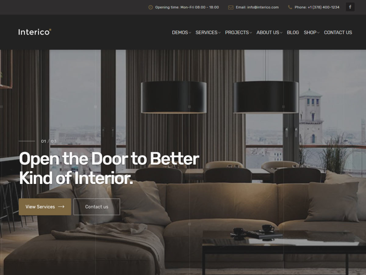 Interico company WordPress theme