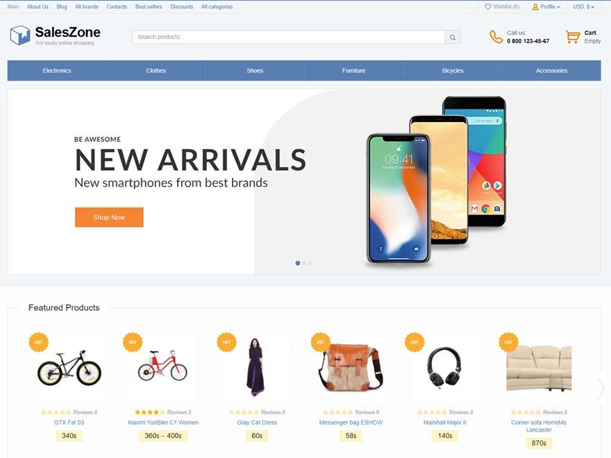 SalesZone WordPress ecommerce template