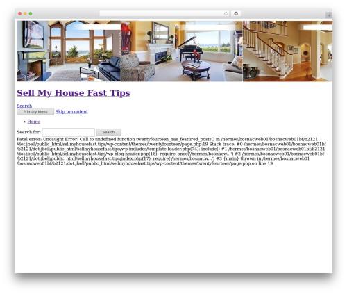 Twenty Fourteen best WordPress theme - sellmyhousefast.tips