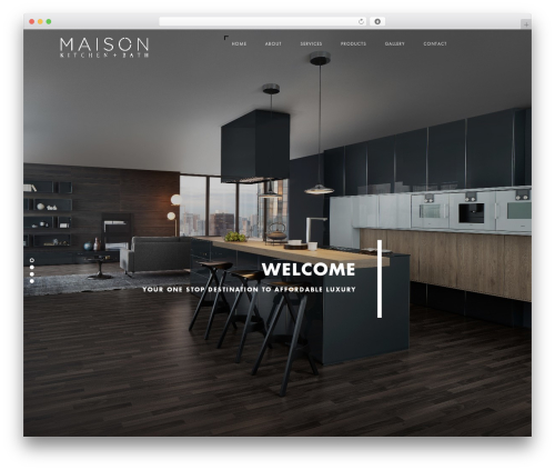 Best WordPress template Domik - maisonshowroom.com