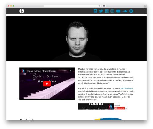 Blank Theme WordPress theme - joakimbertil.com