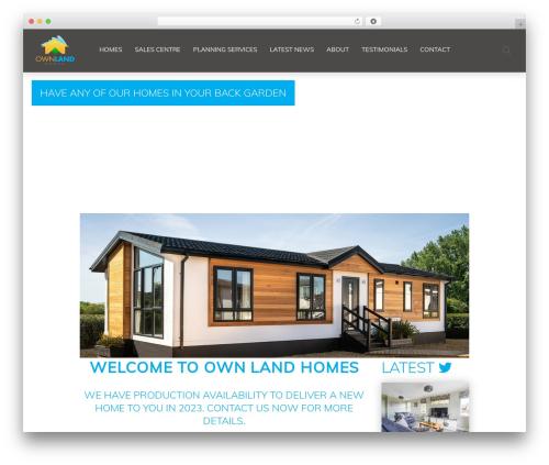 Chester WordPress website template - ownlandhomes.com