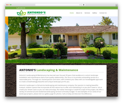 Divi company WordPress theme - santaynezlandscapers.com