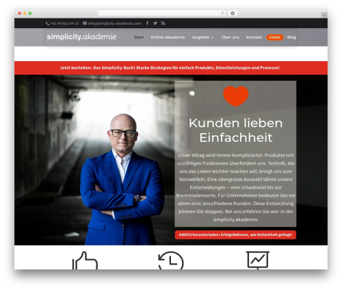 Divi top WordPress theme - simplicity-akademie.com