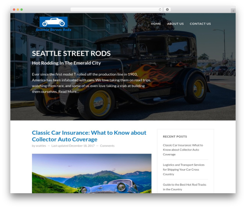 FastBlog WordPress blog template - seattlestreetrods.com