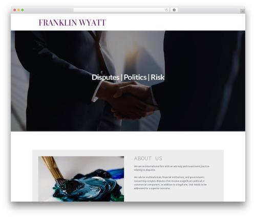 Insurance-Ancora top WordPress theme - franklinwyattconsulting.com