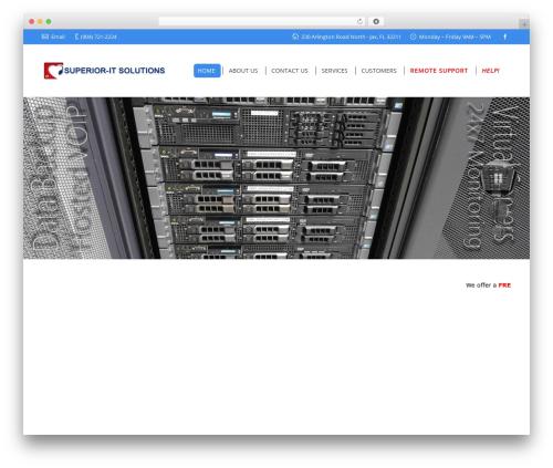 Best WordPress template The7 - jaxsupport.com