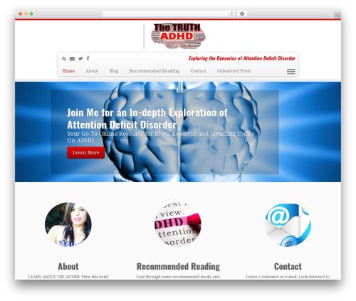 Customizr theme WordPress free - therealtruthaboutadhd.com
