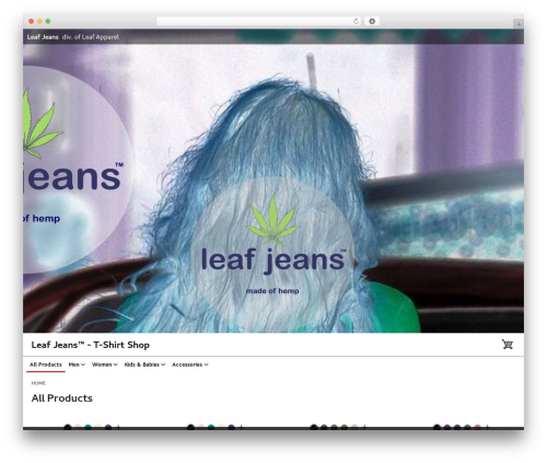 Intentionally Blank WordPress template for business - leafjeans.com