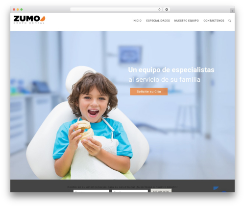MedCare WordPress theme - zumodental.com