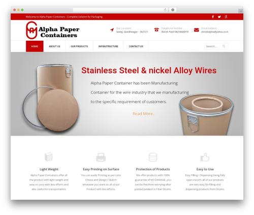 Specular (shared on wplocker.com) WordPress theme - alphapapercontainers.com