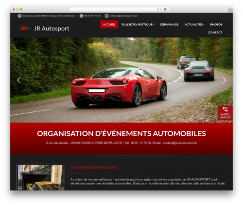 WordPress template PressCore - jr-autosport.com