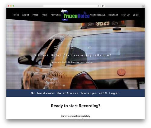WP template EXO Theme - frozenvoice.com