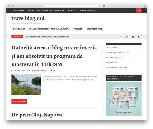 Aqueduct template WordPress free - travelblog.md