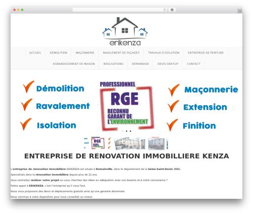 Best WordPress template Nova - maconnerie-romainville.com