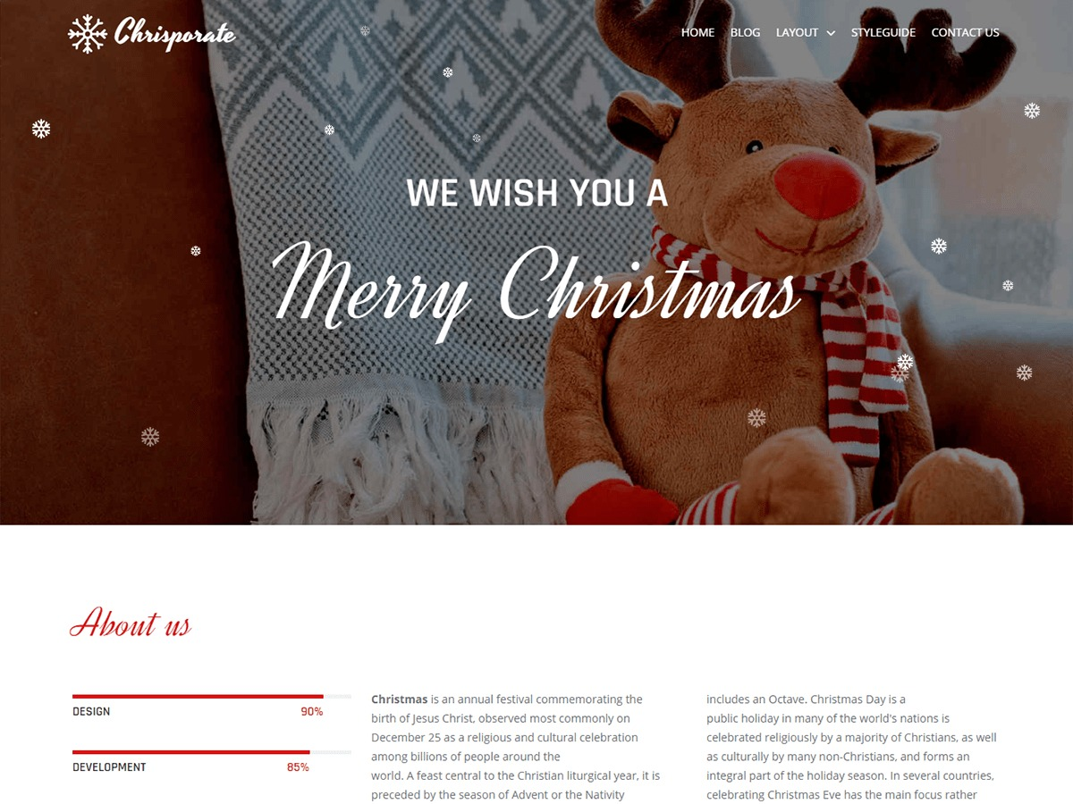 Chrisporate free WordPress theme