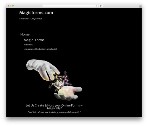 Clean Black theme WordPress - magic-forms.com